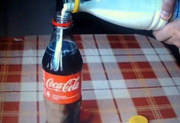 Cola z mlekiem: nie można pić eksperyment