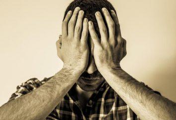 Przykłady przejawów lęku: wykorzystanie strach, strach przed szkodą