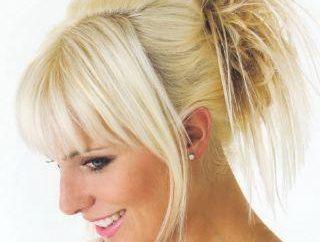 coiffure exclusive dans le style grec avec une frange