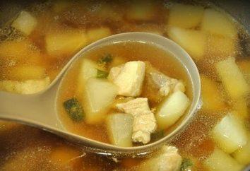 Zupa z mięsa: przepis z oberżyny i żeber