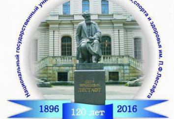 Lesgaft Instytut Wychowania Fizycznego w Petersburgu: opis, działy specjalne i opinie