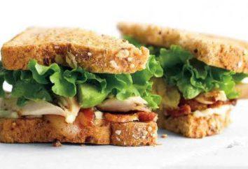 Sandwich au poulet. Recettes avec photos