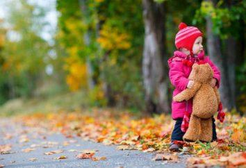 Muestras del otoño: una ocupación para los niños