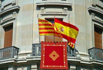 drapeau espagnol et d'autres symboles de l'Etat du pays