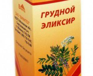 Expectorantes. Instrucciones de uso: torácica Elixir
