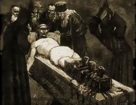 la justicia Sredenevekovoe: cruel instrumento de tortura de la Inquisición