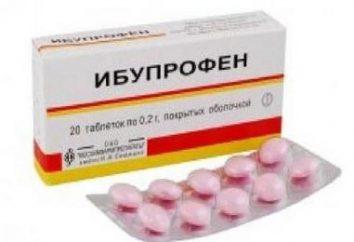 """Produto """"ibuprofeno"""" para constipações"""