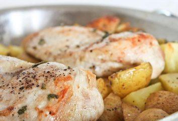 Comment faire cuire le poulet avec des pommes de terre au four?