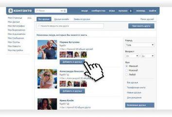 """Gdzie jest funkcja """"VKontakte"""" """"Możliwe przyjaciółmi"""""""