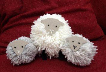 Zabawka owca pompony z rękami