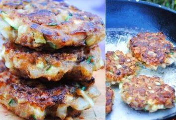 Como fazer um delicioso e suculento hambúrgueres de carne picada e courgettes