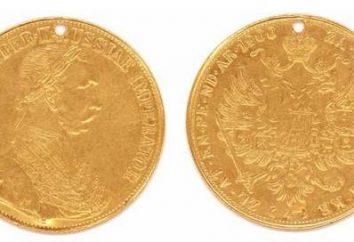 Ducat. Cher des pièces russes. ducat d'or royal
