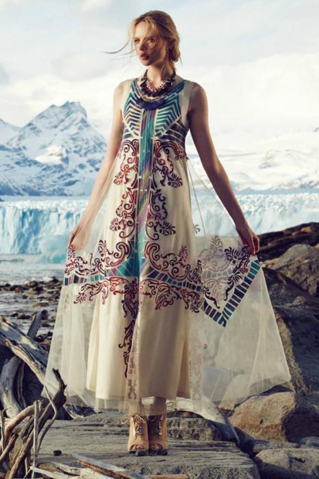 8fa5128962b7 Come cucire un abito in stile Boho  modello. Abiti lavorati a maglia nello  stile di un boho