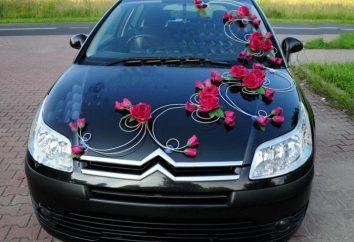 dekoracja samochodu do ślubu z jego własnymi rękami