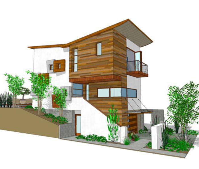 Projetos De Casas Na Encosta: Especialmente O Porão E Térreo