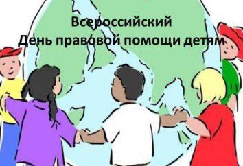 Plan imprezy: Dzień pomoc prawną dla dzieci w Rosji