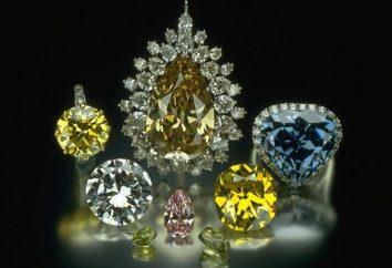 Diamanten Farbe: die Geschichte und die Merkmale der Bildung