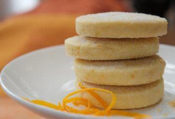 Cucina deliziosi biscotti fatti in casa con panna acida