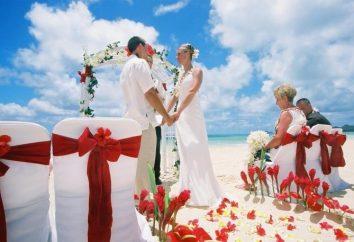 Ihre weiße und rote Hochzeit