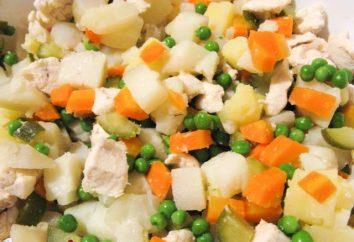 Comment préparer une salade classique « Capital » avec de la viande? Salade « Capital » avec du bœuf, du jambon ou de la langue