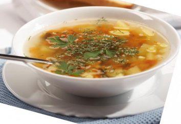 Sopa: calorías, recetas de cocina