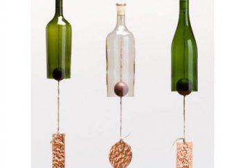 Dzwony plastikowych butelek wykonane własnymi rękami