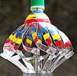 Jak zrobić wiatrowskaz z rękami z plastikowej butelki