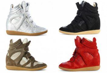 Accento di moda: come si chiama sneakers su un cuneo