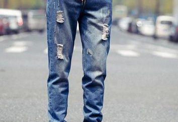 jeans para hombres esposadas en la parte inferior: Descripción