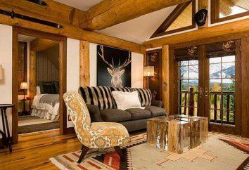 estilo rústico en el interior de una casa de campo: muebles, accesorios, utensilios de cocina