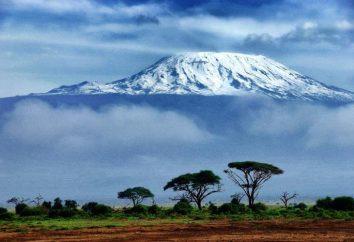 Afrique Coordonnées géographiques volcan Kilimandjaro