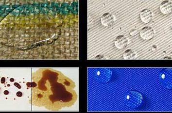 tecido repelente da água e da sapata