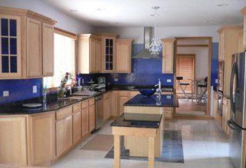 Blaue Küche: foto, Farbkombinationen, Tapetenfarbe für die blaue Küche