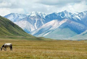 Quirguistão bandeira, o emblema eo hino da República