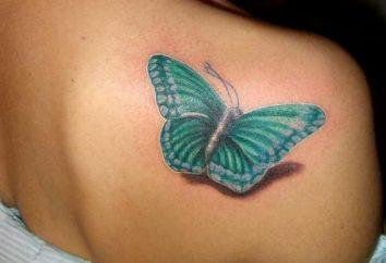 Schönes Tattoo für Mädchen. Schöne kleine Tattoos: auf dem Handgelenk, Finger, Schultern