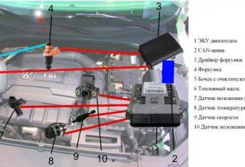 Silnik VAZ-2110 (8 zaworów) wtryskiwacza: urządzenie. VAZ-2110: obwód wtryskiwacza