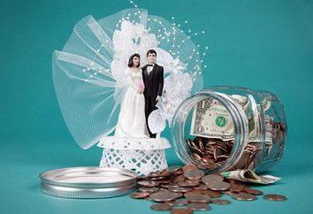 Ein paar Ideen, wie man Geld für ungewöhnliche Hochzeit spenden