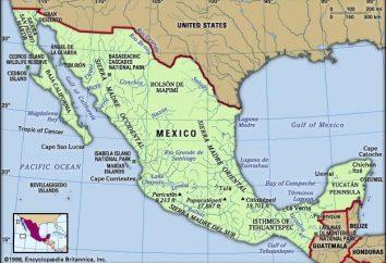 posição económica e geográfica do México:, fatos interessantes característicos
