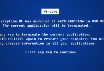BlueScreen, błąd. Jak naprawić Bluescreen błąd?