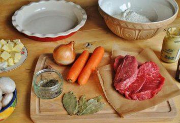 tarte maison avec de la viande et les champignons: les meilleures recettes