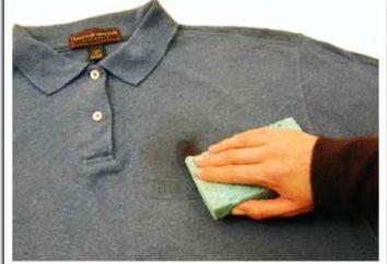 Was und wie einen Ölfleck von der Kleidung zu bekommen?