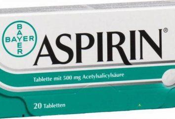 La aspirina para los resfriados: cómo tomar, instrucciones. análogo de la aspirina