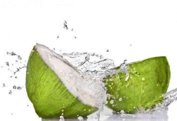 Kokosowy Woda: Właściwości kompozycji i użyteczne