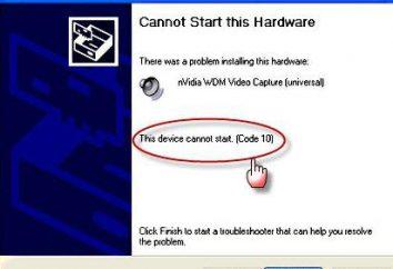 """Uruchomienie tego urządzenia nie jest możliwe: """"Code 10"""". Aby zrozumieć błędy problemowe i poprawne"""