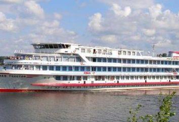 Flussschifffahrt. Transport von Flussschifffahrt. Frontenac