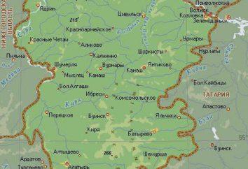 La capital de la República de Chuvashia. Mapa de Chuvashia