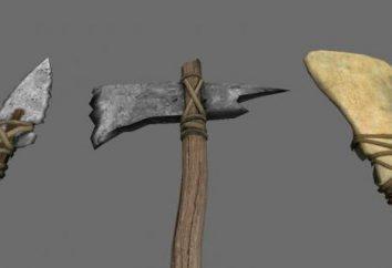 hacha de piedra: los primeros ejes, el uso de fotos