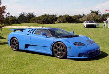 Samochód sportowy Bugatti EB110: opis, paczka