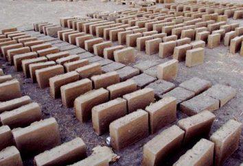 Adobe cegły: technologia produkcji