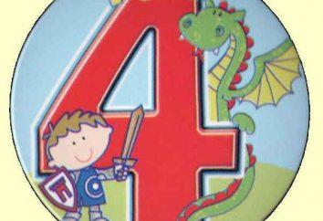 Cottura ragazzo congratulazioni per il suo compleanno (4 anni)
